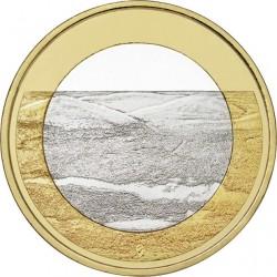 FINLANDIA 5 EUROS 2018 Paisajes Nacionales Nº 4 COLINAS DE PALLASTUNTURI SC moneda bimetálica