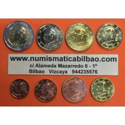 BELGICA MONEDAS EURO 2008 SC : 1+2+5+10+20+50 Centimos 1 EURO + 2 EUROS 2008 REY ALBERTO II DISEÑO TIPO 2 @MUY RARAS@