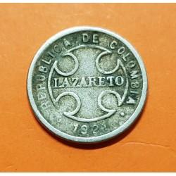 @OFERTA@ COLOMBIA 2 CENTAVOS 1921 RH LEPROSERIA DE LAZARETO KM L.10 MONEDA DE NICKEL @RARA@ Leper Colony coin