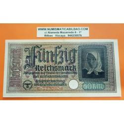 ALEMANIA 50 MARCOS 1939 1945 CASTILLO DE MARIENBURG Serie C Pick 140 BILLETE NAZI MBC++ Germany 50 Reichsmark III REICH