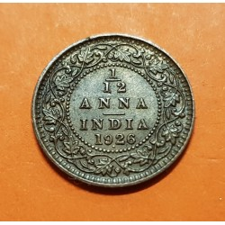 INDIA 1/12 ANNA 1926 . Bombay 1 PIE GEORGIUS V KING EMPEROR KM.509 MONEDA DE BRONCE EBC British India UK Colony