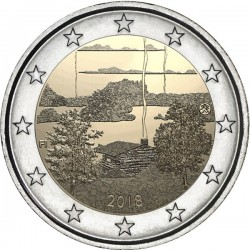 FINLANDIA 2 EUROS 2018 CULTURA DE LA SAUNA FINLANDESA SC 2ª Moneda bimetálica y conmemorativa