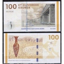 DINAMARCA 100 KRONER 2009 PUENTE y PAISAJE Pick 66A BILLETE SC @LUJO@ Denmark UNC BANKNOTE