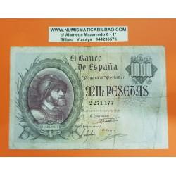 @OFERTA@ ESPAÑA 1000 PESETAS 1940 EMPERADOR CARLOS I y AGUILA Sin Serie 2806201 Pick 125 @BILLETE RARO@ Spain