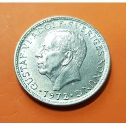 SUECIA 5 KRONOR 1972 REY GUSTAV VI y ESCUDO KM.846 MONEDA DE NICKEL SC- Sweden 5 Kroner Coronas