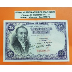 ESPAÑA 25 PESETAS 1946 FLOREZ DE ESTRADA Sin Serie 00542907 Pick 130 BILLETE MBC++ Spain banknote
