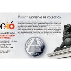 ESPAÑA 10 EUROS 2018 CONSTITUCION ESPAÑOLA 30 ANIVERSARIO 1978/2018 LEON DEL CONGRESO MONEDA DE PLATA ESTUCHE FNMT