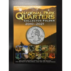 @OFERTA@ ALBUM WHITMAN NATIONAL PARK QUARTERS 2010 / 2021 FOLDER Estados Unidos MONEDAS 25 CENTAVOS SERIE PARQUES NACIONALES