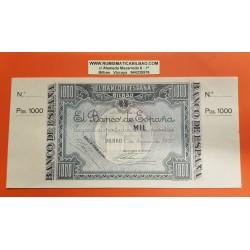 @MATRIZ ORIGINAL@ BILBAO 1000 PESETAS 1937 BANCO DE VIZCAYA Pick S,567 BILLETE SC @PUNTITO@ GOBIERNO DE EUSKADI Bilbao