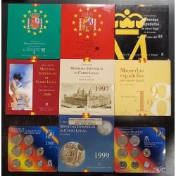 . 1992 1993 1994 1995 1996/2001 ESPAÑA CARTERA FNMT PESETAS SET