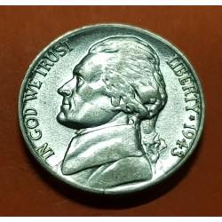 ESTADOS UNIDOS 5 CENTAVOS 1943 P THOMAS JEFFERSON KM.192A MONEDA DE PLATA SC @MUESCA@ USA 5 Cents