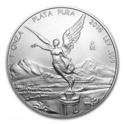MEXICO 1 ONZA 2016 ANGEL LIBERTAD MONEDA DE PLATA PURA 999 SC Mejico Silver coin OZ OUNCE