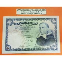 ESPAÑA 500 PESETAS 1946 FRANCISCO DE VITORIA Sin Serie 1932424 Pick 132 @RARO BILLETE@ Spain banknote