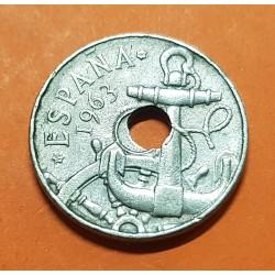 50 CENTIMOS 1963 * 64 @ERROR TALADRO CENTRAL DESPLAZADO@ ESTADO ESPAÑOL FRANCO FLECHAS MONEDA DE NICKEL España