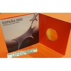 ESPAÑA CARTERA FNMT 12 EUROS 2002 PLATA SC PRESIDENCIA DE LA UNION EUROPEA