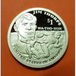 ESTADOS UNIDOS 1 DOLAR 2018 S INDIA SACAGAWEA y ATLETA WA-THO-HUK @PROOF@ MONEDA DE LATON USA 1 Dollar coin