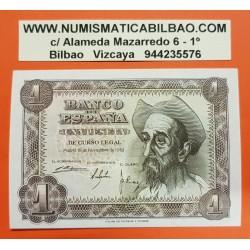 ESPAÑA 1 PESETA 1951 DON QUIJOTE Serie R 5826311 Pick 139 BILLETE SC SIN CIRCULAR Spain UNC banknote