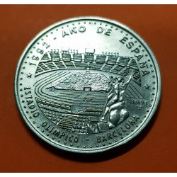 @OFERTA@ 1 PESO 1991 AÑO DE ESPAÑA ESTADIO OLIMPICOD E MONTJUICH OLIM BARCELONA 92 KM.389 MONEDA DE NICKEL SC