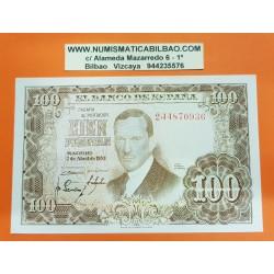 ESPAÑA 100 PESETAS 1953 JULIO ROMERO DE TORRES Serie 2J Pick 145 BILLETE SIN CIRCULAR SC PLANCHA Spain banknote