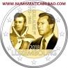 LUXEMBURGO 2 EUROS 2018 GRAN DUQUE GUILLERMO I 175 ANIVERSARIO DE SU MUERTE SC MONEDA CONMEMORATIVA Luxembourg coin