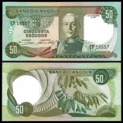 ANGOLA 50 ESCUDOS 1972 MARISCAL CARMONA y PLANTA DE CAFE Pick 100 BILLETE SIN CIRCULAR Portugal UNC BANKNOTE