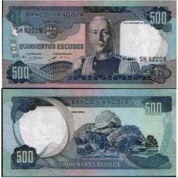 ANGOLA 500 ESCUDOS 1972 MARISCAL CARMONA Pick 102 BILLETE EBC @DOBLEZ - RARO@ Portugal BANKNOTE PVP NUEVO 33€