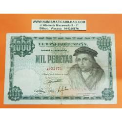 ESPAÑA 1000 PESETAS 1946 LUIS VIVES Sin Serie 2953473 Pick 133 BILLETE MBC- @RARO@ Spain banknote