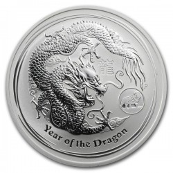 AUSTRALIA 1 DOLAR 2012 AÑO DEL DRAGON 2ª Serie Lunar LION PRIVY MARK MONEDA DE PLATA silver OZ ONZA YEAR OF THE DRAGON
