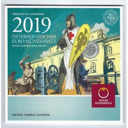 AUSTRIA CARTERA OFICIAL EUROS 2019 SC 1+2+5+10+20+50 Centimos + 1 EURO + 2 EUROS 2019 UNC KMS EUROSET