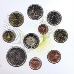 ESLOVENIA CARTERA OFICIAL EUROS 2018 SC 1+2+5+10+20+50 Centimos + 1 EURO + 2 EUROS 2018 + 2€ ABEJAS + 3 EUROS 2018