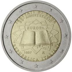ITALY 2 EUROS 2007 TEATRY OF ROME UNC BIMETALLIC