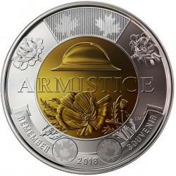 CANADA 2 DOLARES 2018 CENTENARIO DEL ARMISTICIO MONEDA BIMETALICA $2 Dollars ARMISTICE
