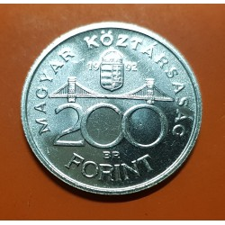 .HUNGRIA 500 FORINT 1992 LADISLAUS REX PLATA SILVER HUNGARY