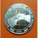 PANAMA 10 BALBOAS 1978 RATIFICACION DEL TRATADO DEL CANAL KM.53 MONEDA DE PLATA PROOF