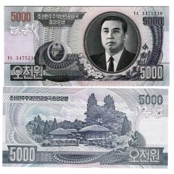 KOREA DEL NORTE 5000 WON 2006 Época de KIM II SUNG poblado Pick 46 BILLETE SC North Korea UNC BANKNOTE