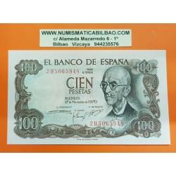 100 PESETAS 1970 17 NOVIEMBRE FALLA @SERIE CAPICUA@ SC ESPAÑA