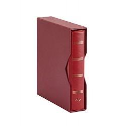 ALBUM PARDO PARA MONEDAS UNIVERSALES modelo 74505 ROJO compatible con Hojas serie 751-761-755-771-Euros...