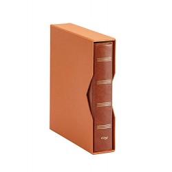 ALBUM PARDO PARA MONEDAS UNIVERSALES modelo 74506 MARRON compatible con Hojas serie 751-761-755-771-Euros...