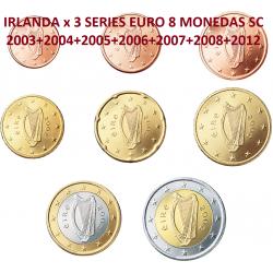 7 series x IRLANDA MONEDAS EURO SC 2003+2004+2005+2006+2007+2008+2012 SC Código ALG