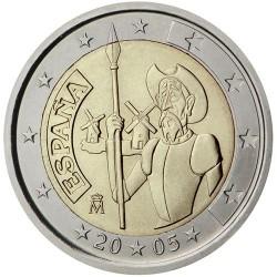 ESPAÑA 2 EUROS 2005 DON QUIJOTE SC BIMETALICA MONEDA CONMEMORATIVA
