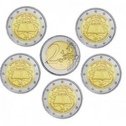 GERMANY 2 EURO 2007 TREATY OF ROME UNC A+D+F+G+J