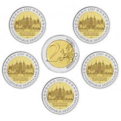 ALEMANIA 2 EUROS 2007 A+D+F+G+J IGLESIA DE MECKLENBURG en WEST POMERANIA SC BIMETALICA MONEDA CONMEMORATIVA