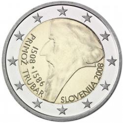 ESLOVENIA 2 EUROS 2008 PRIMOZ TRUBAR MONEDA BIMETALICA SC CONMEMORATIVA