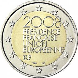 FRANCIA 2 EUROS 2008 PRESIDENCIA DE LA UNION EUROPEA MONEDA BIMETALICA SC CONMEMORATIVA