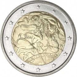 ITALY 2 EUROS 2008 ONU HUMAN RIGHTS UNC BIMETALLIC