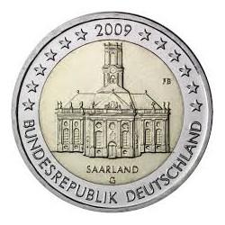 ALEMANIA 2 EUROS 2009 IGLESIA EN SAARLAND SC MONEDA BIMETALICA CONMEMORATIVA Germany BRD