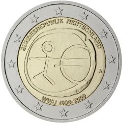 GERMANY 2 EURO 2009 EMU ANNIVERSARY UNC BIMETALLIC