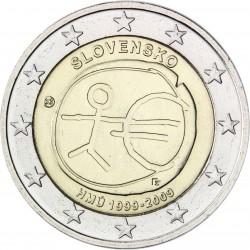 ESLOVAQUIA 2 EUROS 2009 EMU 10 ANIVERSARIO MONEDA BIMETALICA SC Slovakia