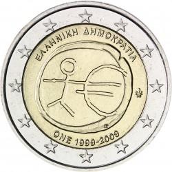 GRECIA 2 EUROS 2009 EMU 10 ANIVERSARIO MONEDA BIMETALICA SC Greece
