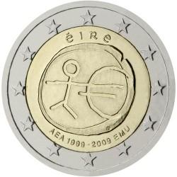 EIRE 2 EUROS 2009 ANNIVERSARY EMU UNC BIMETALLIC